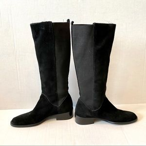 Pazzo NWOT Suede pull on riding boots 8.5 black